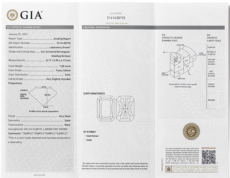 GIA report for diamonds