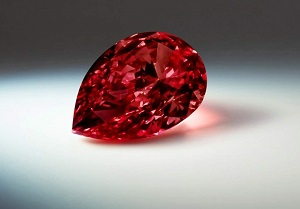 red colored diamond