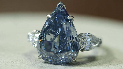 colored diamond blue