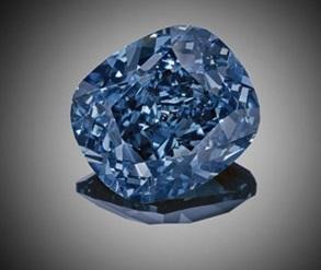 blue colored diamond